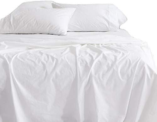 KbCotton - Juego de sábanas de algodón egipcio de 750 hilos, color blanco, 38,1 cm de profundidad: Amazon.es: Hogar