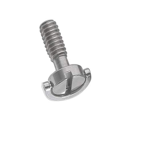 Chelsea 1/4 inch Stainless Steel Long Screw SLR Camera Tripod PTZ Screw Word Screw Silver