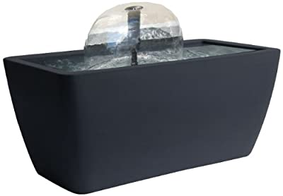 Algreen Manhattan Contemporary Slate Patio and Deck Pond Water Feature Kit with Light, 50-Gallon