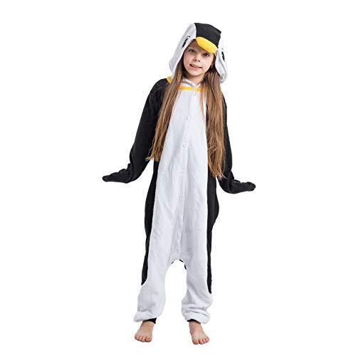 Cheap Penguin Costume (Spooktacular Creations Unisex Child Pajama Plush Onesie One Piece Penguin Animal Costume (7-9yr))