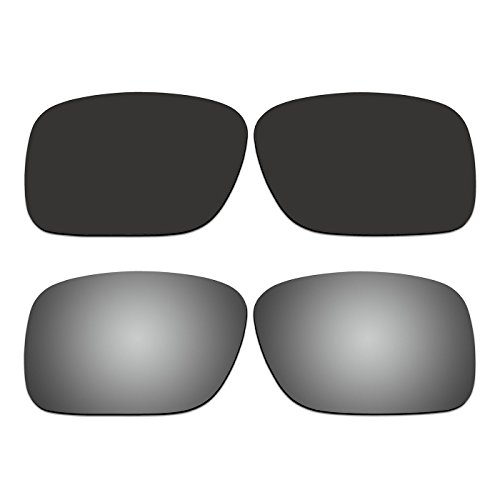 2 Pair ACOMPATIBLE Replacement Polarized Lenses for Oakley SI Ballistic Det Cord Sunglasses OO9253 Pack - Sunglasses Ballistic Oakley