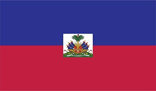 JMM Industries Haiti Flag Vinyl Decal Sticker Repiblik Ayiti Haitian Car Window Bumper 2-Pack 5-Inches by 3-Inches Premium Quality UV-Resistant Laminate PDS442