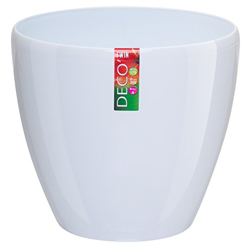 Santino Watering Planter White Flower product image