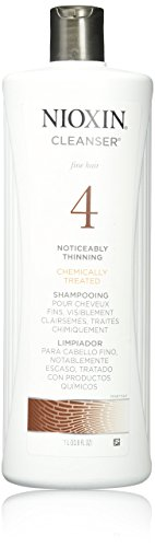 Chemically Treated Hair Shampoo (Nioxin System 4 Cleanser For Fine Hair, Chemically Treated, Noticeably Thinning Hair - 1000ml/33.8oz)