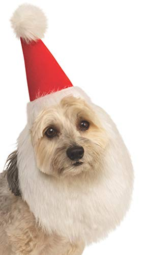 Rubie's Christmas Pet Costume, Medium to Large, Santa Claus Hat and Beard - http://coolthings.us