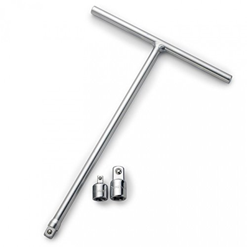 Electronics Tool Store 3/8'' T-Handle Long Reach Wrench w/2 Adapters by Electronics Tool Store