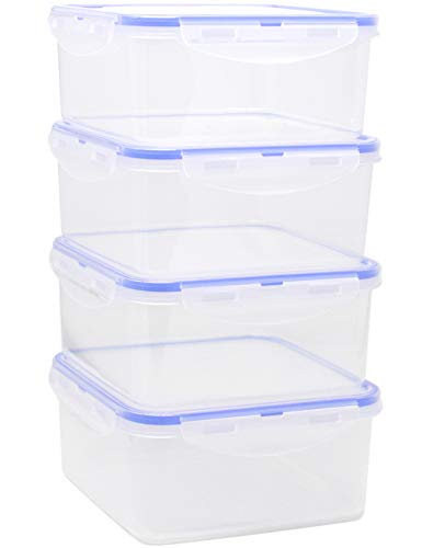 Kitchen Hardware Collection [4 Pack] Plastic Food