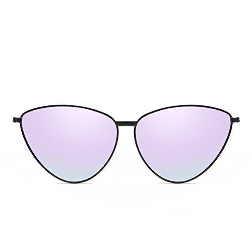 Moda Gafas De Ojo Protección Varios Sol Gafas De De De Gato Blackframelightpurple Personalidad De Estilo Mujeres UV Simple Polarizado Selección Colores TrZ1Wnr