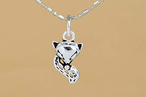 1 Pcs #YBL/_22322 61607 15x8MM Sterling Silver Fox Charm