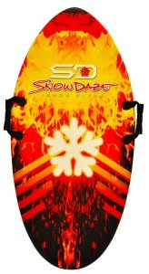 Keeper Sports SnowDaze Snow Bullet Sled Board (42-Inch x 21-Inch x 1.25)