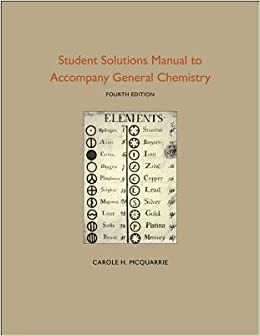 Student Solutions Manual to Accompany General Chemistry   [STUDENT SOLUTIONS MANUAL TO AC] [Paperback]