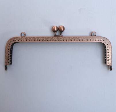 Buckes - 10pcs/lot 20cm Bag Buckle Antique Bronze Gun Black Silver Golden Tone Metal Purse Frame for Coin Purse Making DIY Bags Accessory - (Color: Antique Copper)