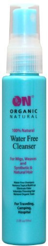 On Organic Natural Water Free Cleanser for Wigs and Weaves - Synthetic & Natural Hair 8 oz.