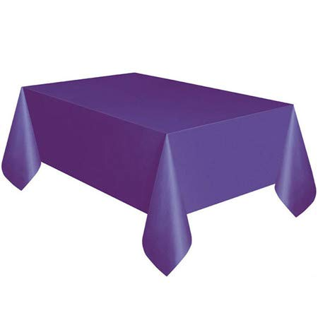 GFEI 使い捨てプラスチックテーブルクロス 無地 結婚式 誕生日パーティー 長方形 布 6枚 137274Cm パープル 335-838  パープル B07KW4CTX8