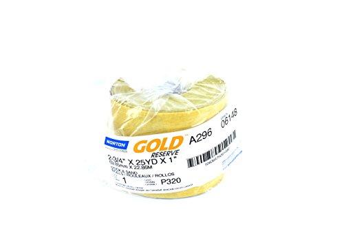 Norton Gold PSA Sandpaper Dura Block Sticky Back Roll (320 Grit)