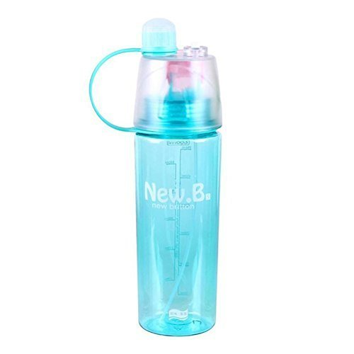 Yaping Plastic Outdoor Sports Spray BPA-Free Water Bottle with Straw For Travel...