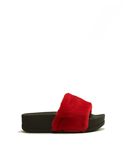 Jeffrey Campbell - Sandalias de vestir para mujer Rojo