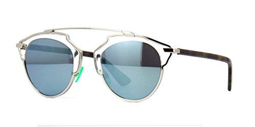 New Christian Dior SO REAL NSY/T7 Palladium Crystal Green Havana /Blue - Sunglasses Dior New Model