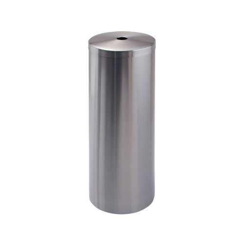 Freestanding Spare Toilet - InterDesign Forma Free Standing Toilet Paper Holder - Spare Roll Storage for Bathroom, Brushed Stainless Steel
