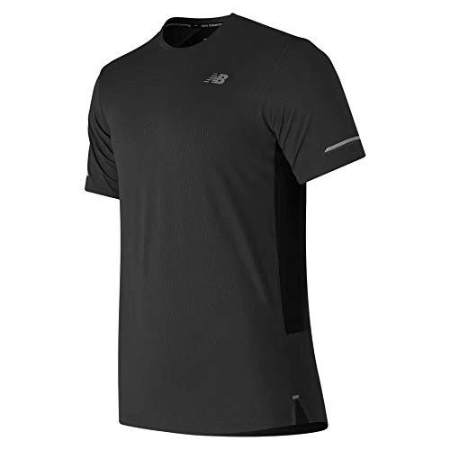 New Balance Men's Nb Ice 2E Short Sleeve, Black, Medium