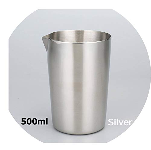 Stainless Steel Stirring Tin 500ml Mixing Glass Preferred by Pros and Amateurs Alike, Make Your Own Specialty Cocktails,Silver 500ml