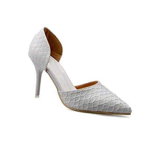 9cm 37 Sandalias Sexy Boca superficial la Con multa Toda elegante Gris 38 zapatos correspondencia Moda Los una talones Señaló Ajunr Transpirable q1vYvH