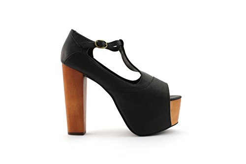 Jeffrey Campbell Foxy Leather - Zapatos para mujer negro
