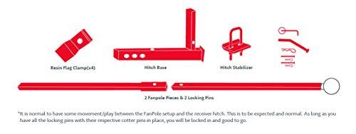Flag Pole To Go For Trucks - Pole Mounts to Hitch- Fanpole by FanPole (Image #5)
