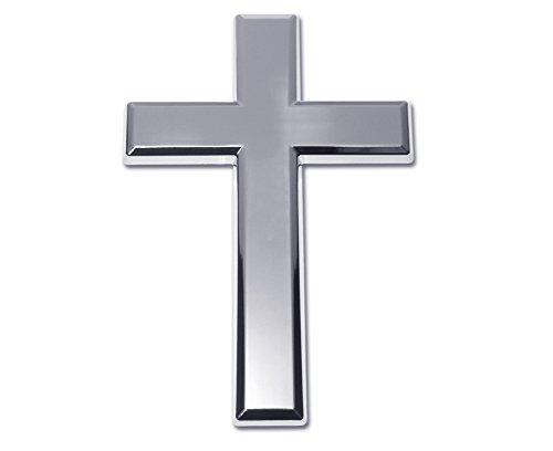 Elektroplate Cross Chrome Metal Auto Emblem