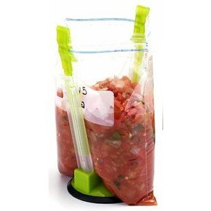 Holds your freezer bag while you fill it!