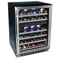 New EdgeStar 46 Btl Built-In Dual Zone Wine Cooler