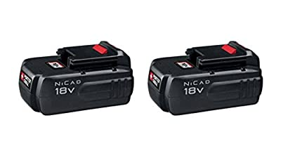 Porter-Cable PC18B Tradesman 18V 1.5 Ah Ni-Cd Rechargeable Drill Battery Set of 2