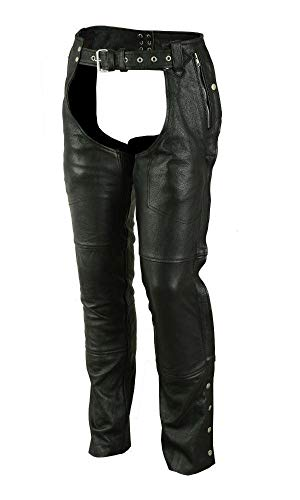(Renegade Classics Deep Pocket Thermal Lined Chaps Black)