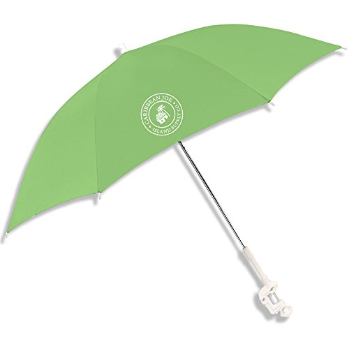 "Caribbean Joe CJ-48GRN 48"" Clamp on Beach Umbrella with UV Protection, Green"