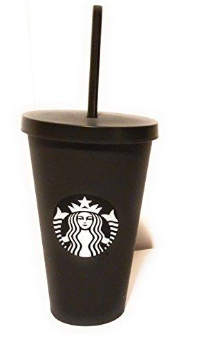 Starbucks Acrylic Cold Cup Grande Tumbler / White Logo - Matte Black, 16 Fl - Matte Cup