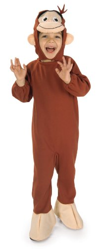 [Curious George Costume, Monkey, Toddler] (Child Monkey Costumes)