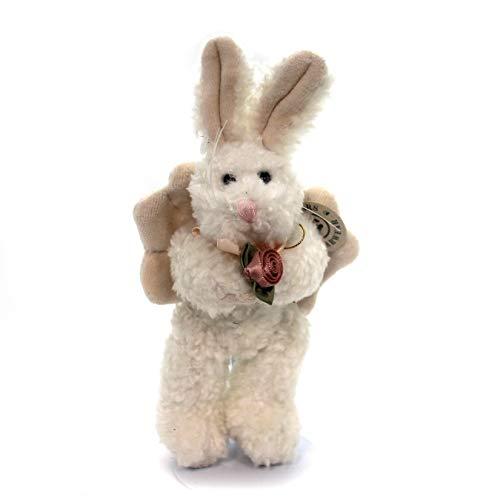 BOYDS BEARS PLUSH Celeste Bunny Ornament Fabric Hare Rabbit Rose Wings 560901