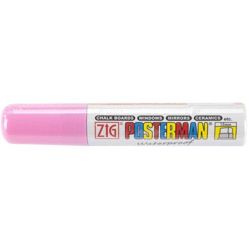 Zig 15mm Posterman Tip Marker, Fluorescent Pink