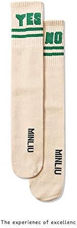 Lumsinker 3 Paia Lettera Ragazze Ginocchio Alto Lungo Calzini Cotone Autoreggenti Per 3-12 Anni
