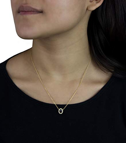 (14K Yellow hammered gold oval smoky quartz and diamond halo necklace)