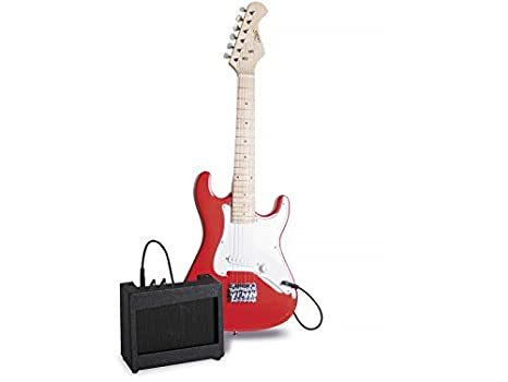 PEQUEBANDA Guitarra 80 cm. con Amplificador: Amazon.es: Juguetes y juegos