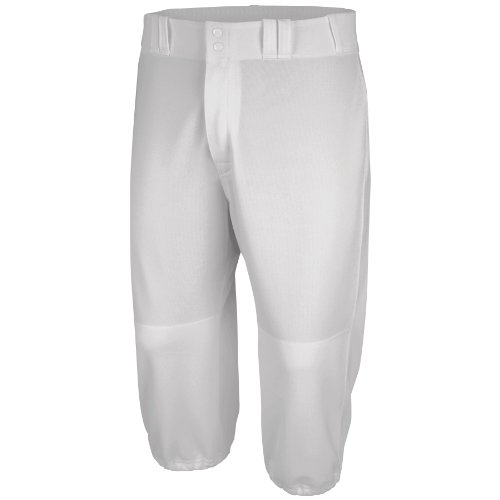 Majestic Men's Cool Base Throwback Pant, Pro White, - Baggy Baseball Pants