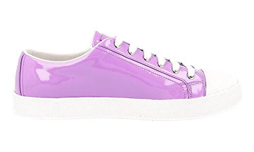 Prada Dames 3e6202 A33 F0d67 Lederen Sneaker
