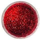 Christmas RED Disco Cake 5 gr Decoration, Toppers, Wedding, Cupcakes, Fondant, Cake pops 5g by Oh! Sweet Art