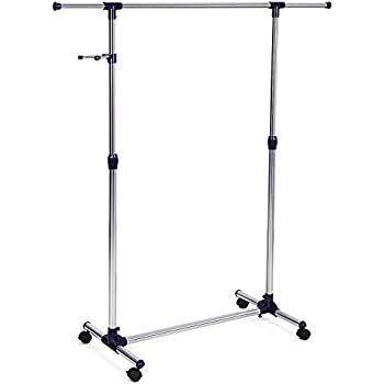 collapsible folding rolling clothing garment rack salesman 39 s rack home kitchen. Black Bedroom Furniture Sets. Home Design Ideas