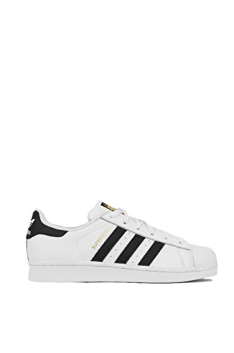 adidas Originals Women's Superstar W Fashion Sneaker, White/Black/White, 9 M US (Women Adidas Basketball Shoes)