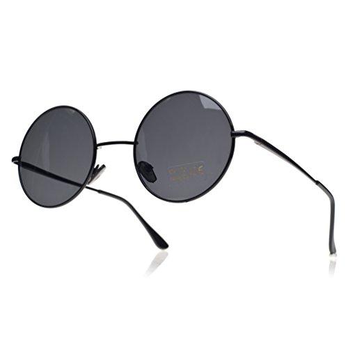 4sold ochentero de lennon diseño black con Gafas negro ahumados sol Negro TM unisex black cristales 11gqU