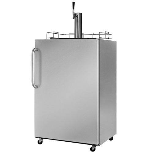 Summit Appliances SBC490OS 24 Inch Outdoor Full Keg Beer Dispenser With Automatic Defrost And Towel Bar Handle - Stainless Steel (Dispenser Summit Beer)