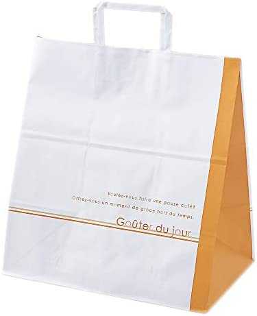 株式会社東光 PAOTOKO 期間限定 PAO手提げ紙袋 L-35(フランス) 200枚 紙袋 手さげ袋 手提げ 手さげ テイクアウト用品 RC213534