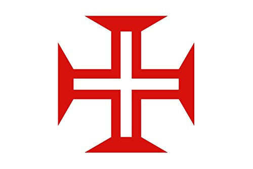 magFlags Large Flag Portuguese Discoveries and Empire | with The Cross of The Order of Christ | 1.35m² | 14.5sqft | 120x120cm | 45x45inch - 100% Made in Germany - Long Lasting Outdoor Flag